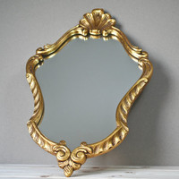 french antique vintage mirror - decorative model