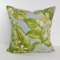 Tommy Bahama Tropical Blue and Green Decorative Pillow Cover, 18 x 18 Throw Pillow Cushion