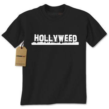 Hollyweed - Hollywood Sign Vandalized Mens T-shirt