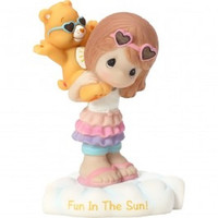 Precious Moments Care Bears Funshine Bear - Girl Figurine