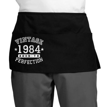 Vintage Birth Year 1984 Dark Adult Mini Waist Apron