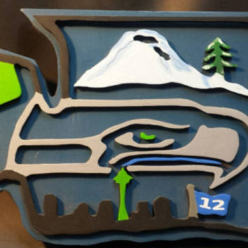 Seattle Seahawks Inspired Sign!
