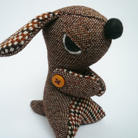 Evil Dog  Sneeky puppy  Brown Vintage style by TheOffbeatBear