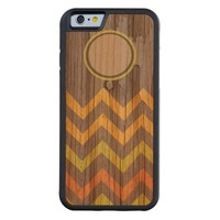 chevron pattern wood iphone cases carved® cherry iPhone 6 bumper case