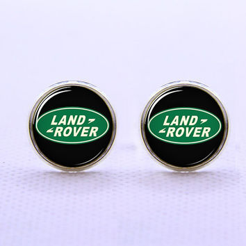 Land Rover Car Logo  Cufflinks  -Mens Silver Plated Cufflinks,Accessoires for Man-Mens Gift ,Gift for Daddy ,Best Man