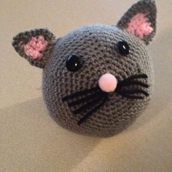 Amigurumi Crochet Cat Ball PDF Pattern/ Instant Download/ PDF E-Book/ Stuff Animal Tutorial