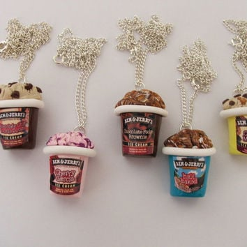 Funky Ben & Jerry's Ice Cream Necklace CHOOSE ANY FLAVOUR
