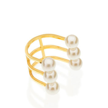 Emma Pearly Cuff Ring