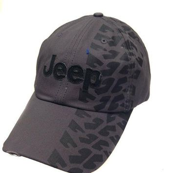 Jeep Hat W/weathered Tire Track Design Print