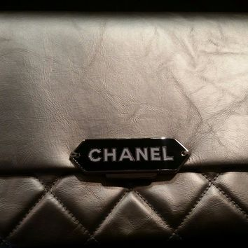 Chanel Metallic Retro Label Clutch Bag with Single Strap – NWT - 100% Authentic