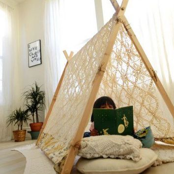 Make your own a frame tent from free people diy for Build your own canopy frame