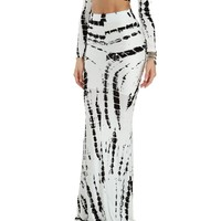 Sale-white Tie Dye Mermaid Maxi