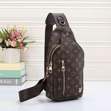 dd4d2e0bb Louis Vuitton Men Leather Purse Single-Shoulder Bag Crossbody