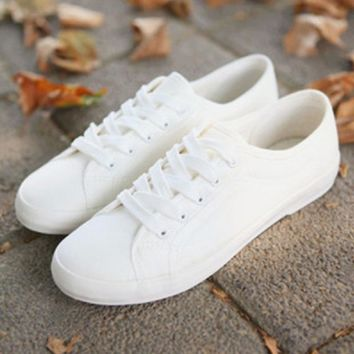 Fashion Online Fashion Women Canvas Shoes Low Breathable Women Solid Color Flat Shoes Casual White Leisure Cloth Shoes