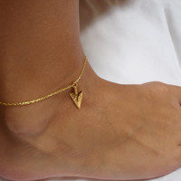 Gold Arrowhead Anklet