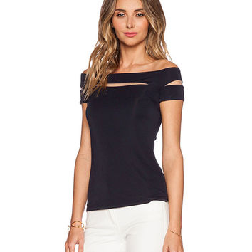 Black Cut Out Sleeves Top