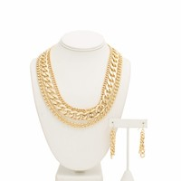 Layers Of Chains Necklace Set - GoJane.com