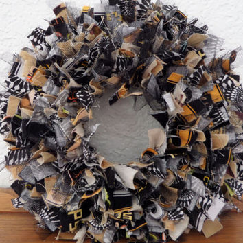 "6""  Halloween 3 Mini Rag Wreath"