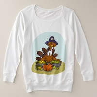 Holiday Turkey Celebration Plus Size Sweatshirt