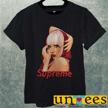 Hot Lady Gaga Supreme Logo Men T Shirt