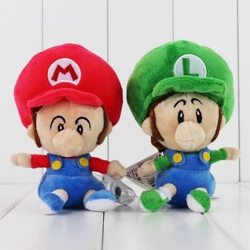 Super Mario party nes switch 14cm High Quality Cute  luigi Soft Plush Q Version Baby  BROS Doll for Kids AT_80_8