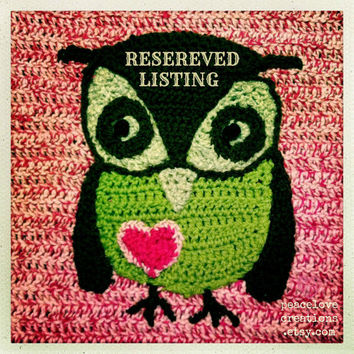 Crochet Felted Owl Bag (RESERVED LISTING)