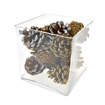Decorated Pine Cone Christmas Bowl Fillers, 27-Piece