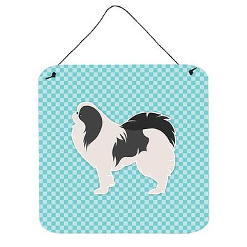 Japanese Chin Checkerboard Blue Wall or Door Hanging Prints BB3737DS66