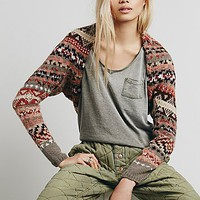 Free People Womens Fairisle Shrug