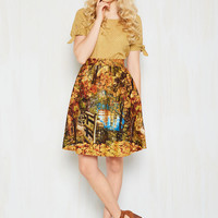 Cheer Uplifting Skirt in Parks | Mod Retro Vintage Skirts | ModCloth.com
