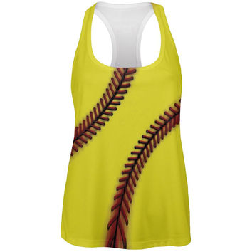 Fastpitch Softball All Over Womens Work Out Tank Top