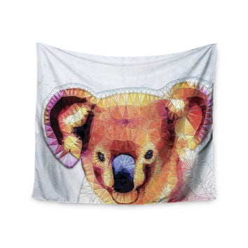 "Ancello ""Cute Koala"" Orange Pink Wall Tapestry"