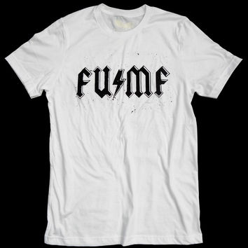 F#%k You MuthaF#%@a - FU / MF Band Tee - white -Unisex - by American Anarchy Brand