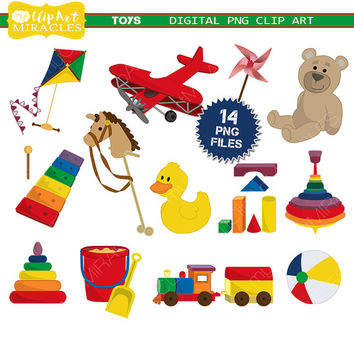 Toys Clip Art Kit, Baby toys Clipart, Colorful toys digital clip art, Baby clipart / Instant download