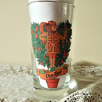 Indiana Glass Company 12 Days of Christmas Replacement Glass, American Glass 11 Pipers Piping, 12 Days of Christmas 11th Day Tumbler