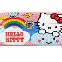 Hello Kitty Tin Clutch Purse - Rainbow