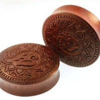Om Lotus Flowers Bloodwood Plugs