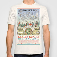 Leslie Knope for City Council - Parks and Recreation Dept. T-shirt by Jasey Crowl