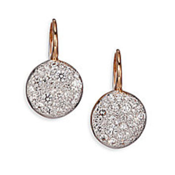 Pomellato - Sabbia Diamond & 18K Rose Gold Drop Earrings - Saks Fifth Avenue Mobile