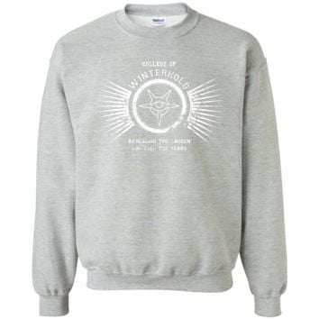 College of Winterhold T-Shirt Printed Crewneck Pullover Sweatshirt  8 oz