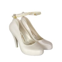 VIVIENNE WESTWOOD - SHOES WOMEN'S PEARL SKYSCRAPER SHOES - WHITE