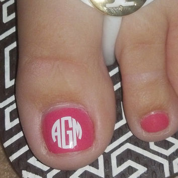 27 Small (NAIL) Monogram/Initial Vinyl Decals