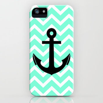 Tiffany Chevron Anchor iPhone Case by Rex Lambo | Society6