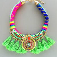 Kashi Neon Statement Necklace