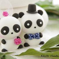 Casual Collection -----LOVE ANGELS Panda  Wedding Cake Topper