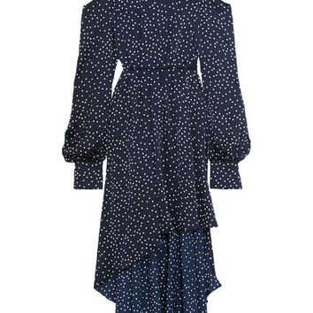 Magda Butrym - Rennes open-back polka-dot silk-satin dress