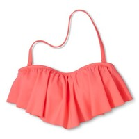 Xhilaration® Junior's Hanky Swim Top -Coral