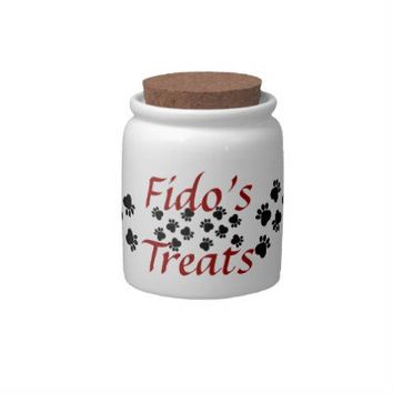 Dog Treats - Custom Dog Name Treats Jar - Personalize with your pet's name!