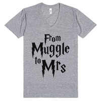From Muggle To Mrs-Unisex Athletic Grey T-Shirt