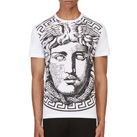 Versace White And Black Big Medusa T-shirt